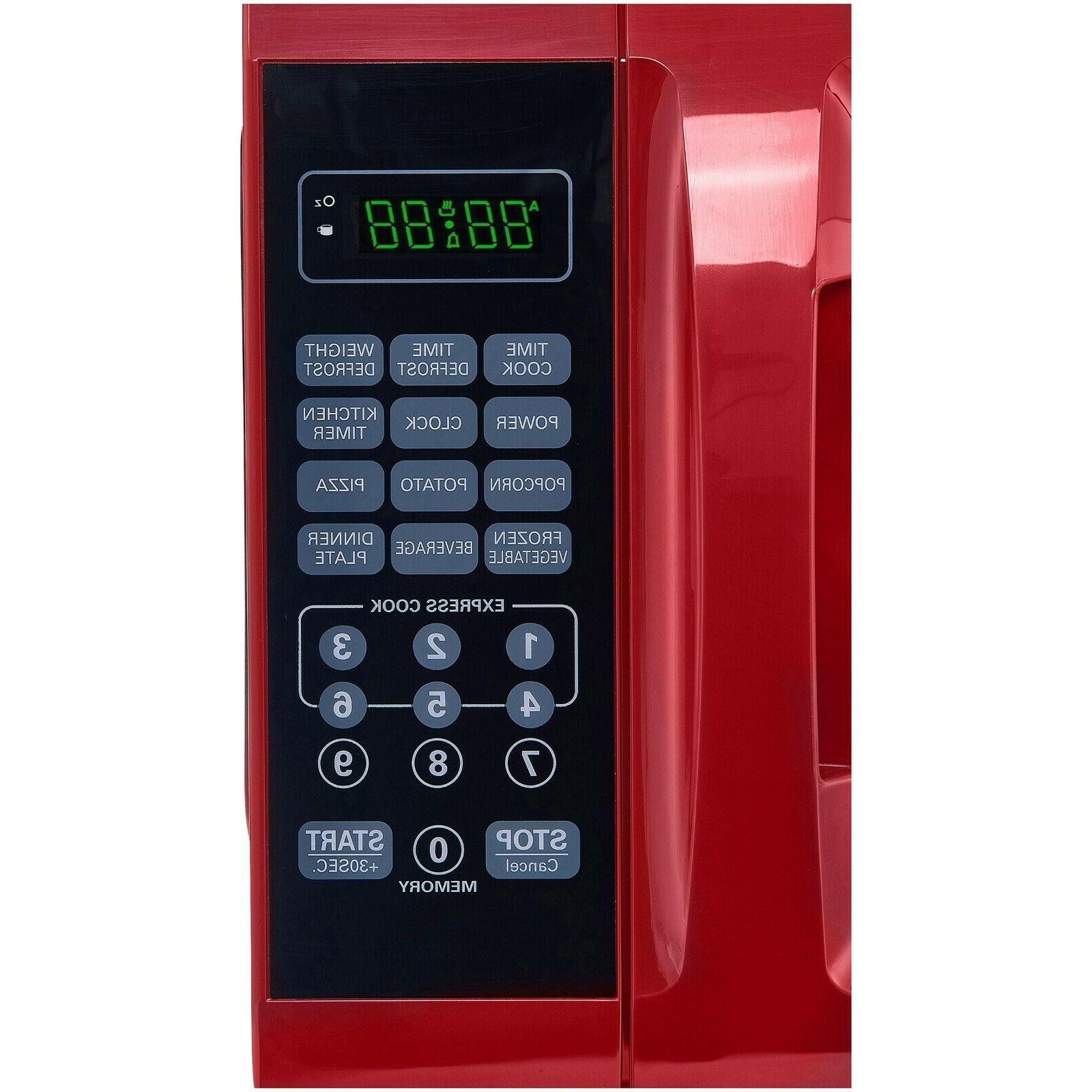 0.7 Cu. Ft. Red Microwave Power Levels, Appliances