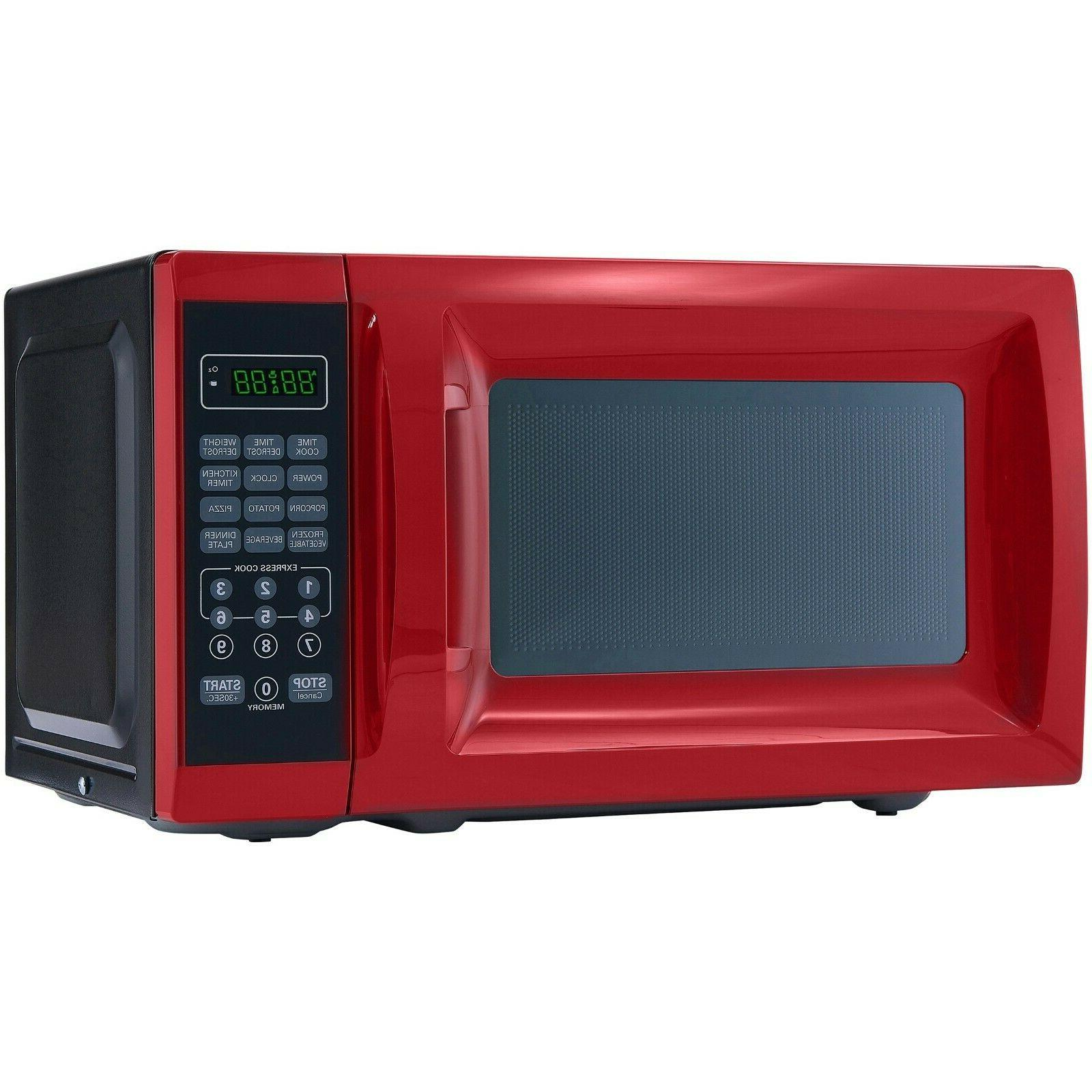 0.7 Red Microwave Power Kitchen