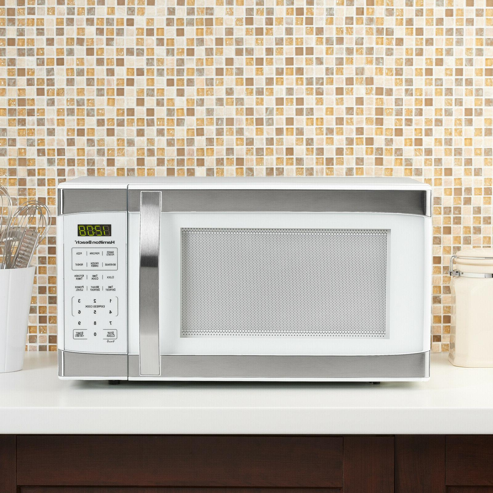Hamilton Beach 1.1 Cu.ft White with Stainless Steel Digital