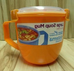 Sistema Large Microwave Cookware Soup Mug, Red 30.4 oz, 1141