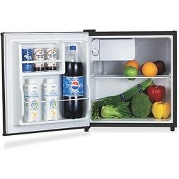 Lorell LLR72311 Compact Refrigerator, Wire Shelf, Dial Contr