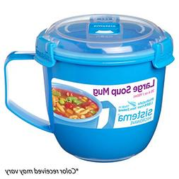 Sistema Microwave Collection Noodle Bowl 31.7oz, Red 1109ZS,