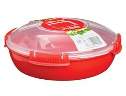 Sistema 1118ZS Microwave Collection, Round Dish, Red, 43.6 O