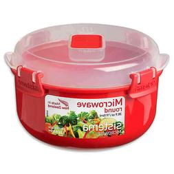 Microwave Cookware Bowl Round Red 30.9 Ounce/ 3, Sistema.