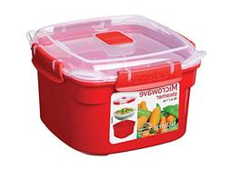 Microwave Cookware Steamer Small 50 Ounce 5.9 Cup Red Kitche