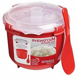 Microwave SISTEMA Rice Steamer Cooker Pot 87.9 Ounce/10.9 Cu
