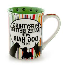 Our Name is Mud Dog Hair and Friends Stoneware Mug, 16 oz.