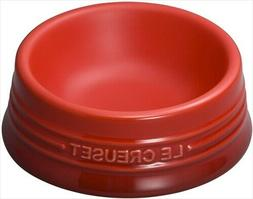 Le Creuset pet bowl pet ball  cherry red Microwave oven comp