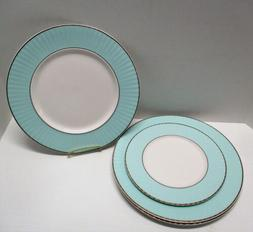 Lenox Pleated Colors: 1 Salad and 3 Dinner Plates - White &