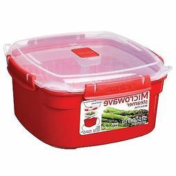 Red Sistema Medium Microwave Steamer 2.4L