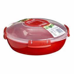 Sistema Red Microwave Klip-It Round Plate Dish 21cm 18001118