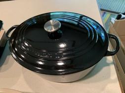 Le Creuset Shiny Black Onyx 6.75 Quart Oval Dutch Oven - Pic