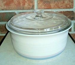 Pfaltzgraff Stoneware Aura Pink Round Casserole Baking Dish