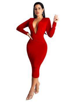 Vestidos de Fiesta Largos Rojos Noche Sexys Dress Elegantes